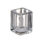 Bolsius theelicht & clear cup houder square transparant 6 stuks