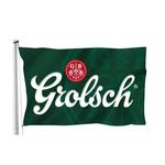 Grolsch vlag wit/groen 150x100cm    p/st