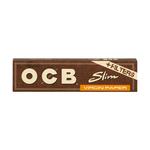 OCB virgin slim paper + filter tips boekje 32 vloeitjes + 32 tips