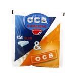 OCB combi slim filter + orange slim booklet 1 boekje vloei + 50 tips