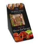 The Bread Office sandwich cardboard bacon sla tomaat meergranen 130 gr kort houdbaar