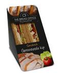 The Bread Office sandwich cardboard geroosterde kip meergranen 147 gr kort houdbaar