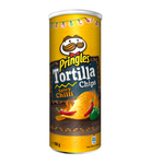 Pringles tortilla chips spicy chilli can 160 gr