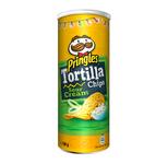 Pringles tortilla chips sour cream onion can 160 gr