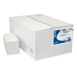 Euro papieren handdoek w-vouw recycled wit 2 laags 25x46 cm 1860 stuks