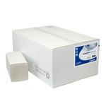 Papieren handdoekjes interfold recycled tissue 2 laags 34.5x25cm 2400 stuks