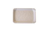 Schaaltje karton ersatz 12 x 18 cm gevoerd wit