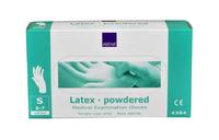 Handschoen latex wit gepoederd small