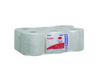 Kimberly clark wypall L10 poetsdoeken airflex materiaal 1 laags wit 38x18.5 cm roll controll 6x630 doeken