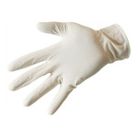 Depa handsch. latex wit zp M 100 stk