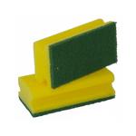 Wegter schuurspons geel/groen 10 stuks