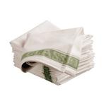 Wegter glasdoek met groenkader per stuk