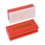 Ecolab schuurspons rood/wit 10 stuks