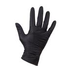 Handschoen nitril ongepoed. zwart L 100 stk