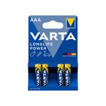 Varta Long Life AAA alkaline batterijen blister 4 stuks