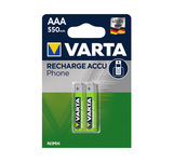 Varta phone power accu AAA HR03 500 mAh blister 2 stuks
