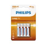Philips longlife zinc AAA/R03 blister 4 stuks