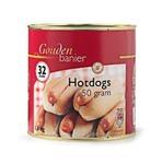 Gouden Banier hotdog worstjes in blik 50 gr
