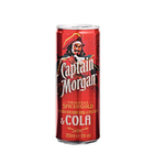 Captain Morgan & cola blik 25 cl