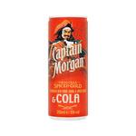 Captain Morgan & cola blik 25 cl