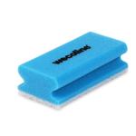 Weco schuurspons met grip blauw/wit 142x70x45 mm 10 stuks