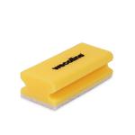 Weco schuurspons met grip geel/wit 142x70x45 mm 10 stuks
