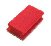 Weco schuurspons met grip rood/wit 142x70x45 mm 10 stuks