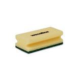 Weco schuurspons met grip geel/groen 142x70x45 mm 10 stuks