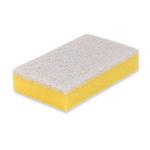 Weco schuurspons geel/wit 150x90x30 mm 10 stuks
