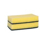 Weco schuurspons geel/groen 150x90x30 mm 10 stuks