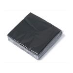 Servet zwart 2 laags 33 cm 1/4 vouw