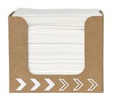 Dunisoft servet wit 20 cm 50 stuks in kartonnen dispenser
