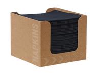 Dunisoft servet zwart 20 cm 50 stuks in kartonnen dispenser