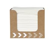 Dunisoft servet wit 20 cm 100 stuks in kartonnen dispenser