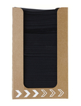 Dunisoft servet zwart 20 cm 100 stuks in kartonnen dispenser