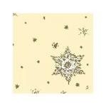 Duni servet glitterstars cream 33cm 10 x 50 stu