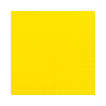 Duni servet geel 33cm 1lgs 6 x 500 stuks
