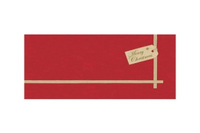 Dunicel napperon christmas gift red 84 x 84 cm
