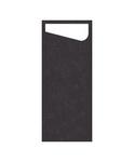 Dunisoft sacchetto slim black met wit servet 4 x 60