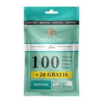 Golden filter menthol flav tips 15mm 100+20 stuk