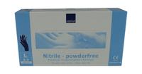 Handschoen nitril blauw poedervrij large