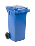 Mini container blauw 120 liter