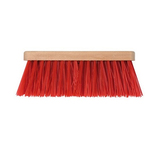 Straatbezem pvc rood 41 cm