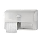Euro pearl white duo toiletpapierhouder compact