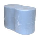 Euro industriepapier blauw 3 laags 2x190 meter