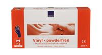 Handschoen vinyl blauw poedervrij medium