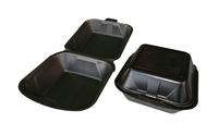 Hamburgerbak zwart schuim 155 x 155 x 80 mm