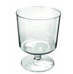 Plastic wijnglas op voet 170cc 540stuks