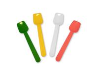 Plastic ijslepeltje in zak