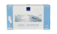 Handschoen latex wit gepoederd large